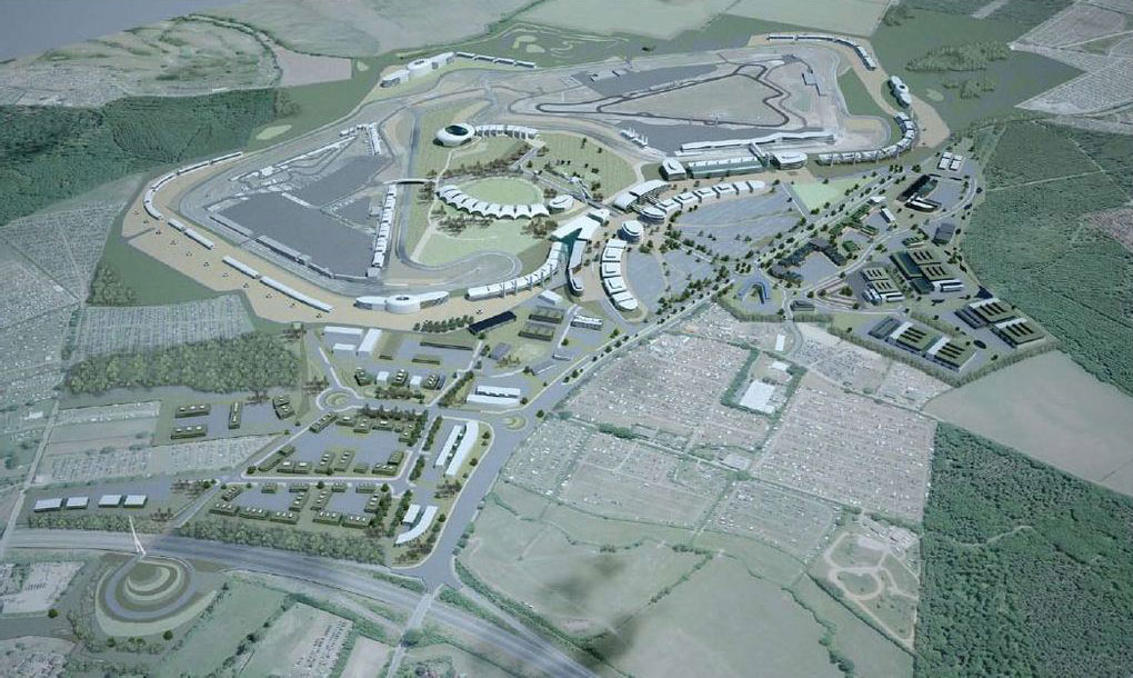 Ariel view of Silverstone Technology Park