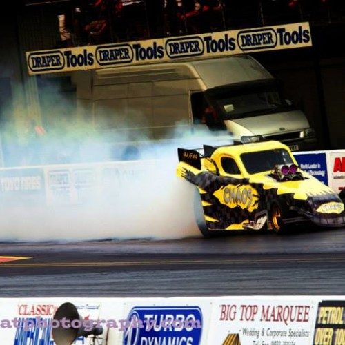 Dragstalgia 2014:  'Chaos' wins 'Lowest ET of the Weekend' for the third year running